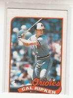 CAL RIPKEN 1989 Topps #250 Baltimore Orioles HOF Nice Oddball Miscut