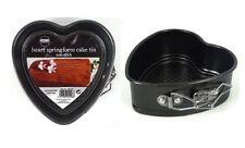 2 x Mini Heart Shape Non Stick Spring Form Cake Baking Tins 12 cm x 11.5cm x 4cm