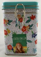 The Pioneer Woman Hinged Lock Top Tin Canister New
