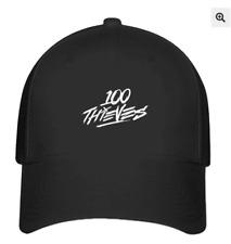 100 Thieves Logo  Design Flexfit  Hat Black Baseball Cap Printed  S/M