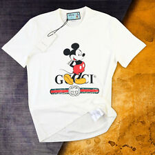 Gucci T shirt White mickey Mouse Oversize Crew neck XL Cotton
