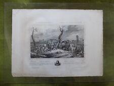 Litho. Campagnes d'Italie Mort du Général Desaix a Marengo  Bonaparte Napléon