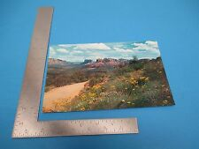 Vintage Red Rock Road to Baldwins Crossing in Oak Creek Canyon AR Postcard S1958