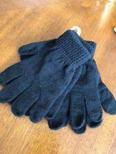Kids Black Knit Gloves (2) Pairs Black New Target Brand