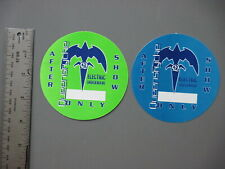 Queensryche backstage passes 2 from Elctric Shockwve green & blue circles