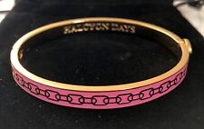 """HALCYON DAYS """"SKINNY CHAIN PINK AND GOLD"""" BANGLE WITH BLACK VELVET POUCH. NEW"""
