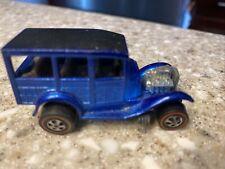 Hot Wheels Redline 1968 Classic 31 Ford Woody, blue Tan Interior Vintage