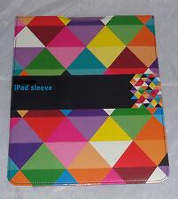 iPad protective sleeve pouch case apple multi coloured Diamonds design NEW