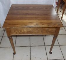 Solid Oak End Table / Side Table with Storage (T792)