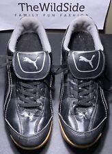 PUMA Esito Finale IT Indoor Soccer Shoe Black Silver Mens Size 9.5 101603 Rare!