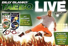 Billy Blanks TAE BO BOOTCAMP LIVE (2 DVD KIT w/ SET BANDS) Cardio Sculpt taebo