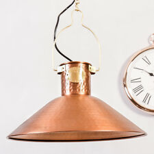 Industrial Antique Style Large Vintage Copper Pendant Ceiling Light Lamp Fitting