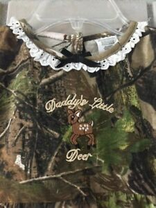 "RealTree girls camouflage  ""Daddy's Little Deer"" dress  size 2T"
