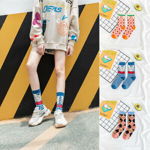 Women Middle Tube Socks Breathable Casual Pure Cotton Fashion Sports Kitten