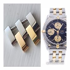 Perfect Genuine Breitling Polished Steel & Gold Link For Chronomat B13048 D13048