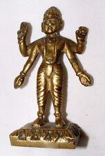 Antico INDIANO IN OTTONE Divinità Indù Statua Statuetta alta 9 cm
