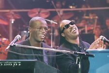 STEVE WONDER PHOTO WITH SEAL 1996 RARE UNIQUE IMAGE FROM LONDON GIG COLLECTIBLE