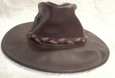 Henschel Hat Oilskin Leather Men's XS or Child's M Made in USA