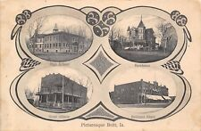 Britt Iowa~Multi Mini View~High School~Hotel Allison~Mansion~Art Nouveau~1908