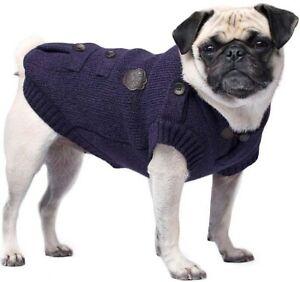 Canada Pooch Dogs Purple Cargo Cardigan Knit Sweater Jacket Coat Sz 20 (33-40lb)