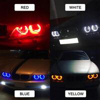 2 White 60mm/70mm/80mm/90mm/100mm Car LED ring Angel Eyes Halo Fog Head Light UK