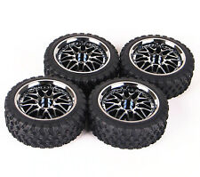 Rc Car Wheels and Rubber Tires Set 12mm hex Fits 1/18 Latrax Teton