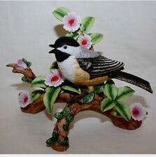 Danbury Mint Carolina Chickadee From 12 Songbird Collection Figurines Porcelain