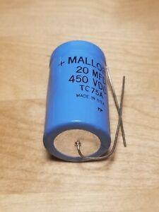 Mallory TC75A 20uF 450VDC Axial Aluminum Electrolytic Capacitor Audio