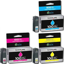 3 Pk Lexmark 100 XL Genuine Color Set Cyan Magenta Yellow INK Cartridges For 705
