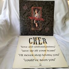 CHER Love Hurts 2-sided 12 x 12 Promo LP Flat / Poster  -- RARE