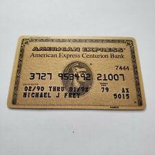 vintage American Express AMEX centurion Bank gold credit card member since 1979