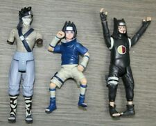 "RARE Lot of 3 Naruto Action Figures Sasuke Masashi Kisimoto 5-6"" Pre Owned"