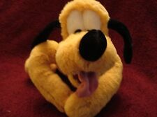 "DISNEY STORE EXCLUSIVE PLUTO PLUSH 11"" LONG  GENUINE ORIGINAL FOOT PATCH MINT"