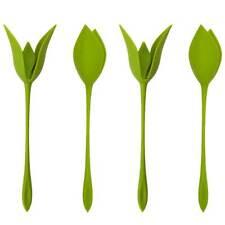 New listing 12Pcs Bloom Napkin Holders Table Green Twist Flower Buds Serviette Holder Set Us