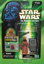 STAR WARS POTF COMMTECH JAWA FIGURE & GONK DROID- RARE NO FOOT PEG HOLES VARIANT