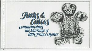 Turks & Caicos Is.Clearance 1981 Royal Wedding Bend & Peel Mint Booklet