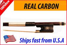 New Genuine Carbon Fiber Violin Bow 4/4 --BROWN