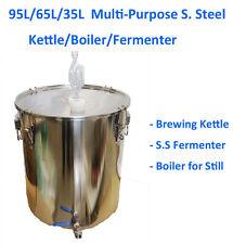 95L/65L/35L Multi Purpose Stainless Steel Brewing Kettle Boiler Fermenter