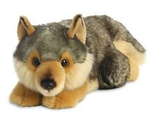 MiYoni Wolf Lying 11 inches - Collectible Soft Plush Toy- Stuffed Wild Animal