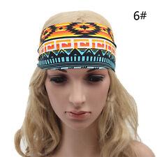 Yoga Headwrap Lady Headband Floral Wide Bandana Elastic Running Hair Band 3C