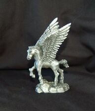 Pewter Pegasus with crystal ball great detail