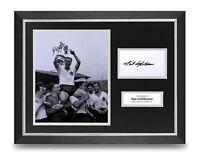 Nat Lofthouse Signed 16x12 Framed Photo Display Bolton Autograph Memorabilia COA