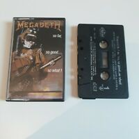 MEGADETH SO FAR SO GOOD SO WHAT ! CASSETTE TAPE CAPITOL CANADA 1988