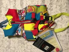 Hyperlite Wake Co Child Life Jacket Vest Bright Comic Book Action Theme 30-50lbs