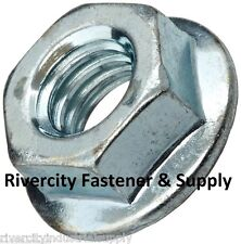 (600) 5/16-18 Serrated Hex Flange Nuts Flange Locknuts or Spin / wiz nuts Zinc
