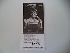 advertising Pubblicità 1968 REGISTRATORE LESA RENAS BM 22
