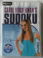 CAROL VORDERMAN'S SUDOKU PC CD-ROM PUZZLE GAME brand new UK ORIGINAL!