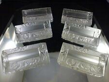 6 Handcut Vintage Crystal Placesetting-Name Card Holders Cherubs Angels