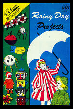 "Vintage 1966 ""Rainy Day Projects"" Kap Kraft Book-Pine Cone-Pipe Cleaner-String"