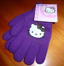 Sanrio Hello Kitty Katze Mädchen Handschuhe Lila Glitzer one Size - NEU